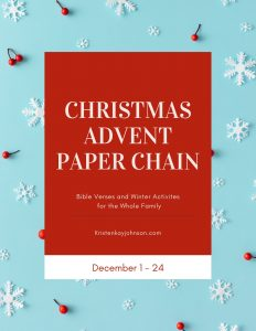 christmas advent paper chain