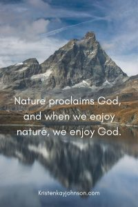 nature proclaims god