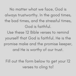 trust god scripture